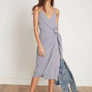 Faithfull the Brand Juel Midi wrap dress